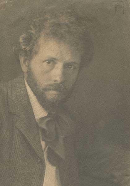 Hervey White. Signed photo by Eva Watson-Schütze.